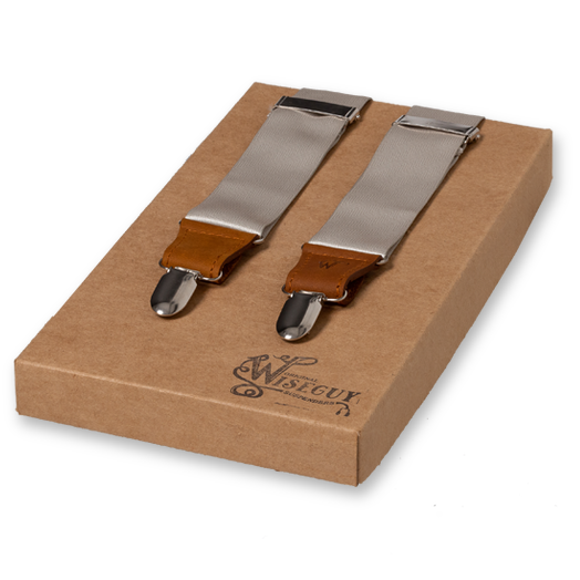 Wiseguy Suspenders - Champagne - Satin (1)